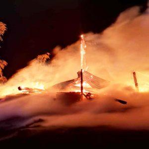 """""""Ktoś"""" podpalił stodołę w Uścikowie"""