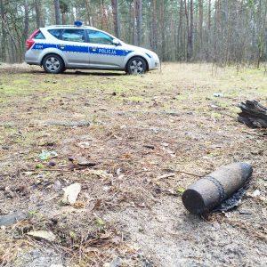 """W lesie za """"Azorkiem"""" znaleziono pocisk artyleryjski"""