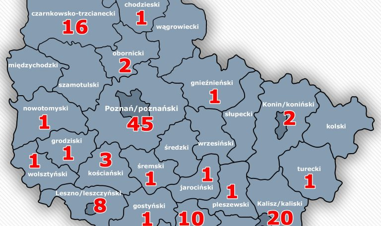 Poniedziałek 20.00: 2 pierwsze przypadki z Ziemi Obornickiej, aż 17 nowych chorych z Wielkopolski