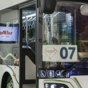 Elektryczny autobus na ulicach Obornik