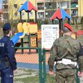 Żandarmeria na ulicach Obornik