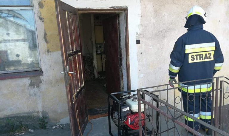 Pożar domu w Świerkówkach