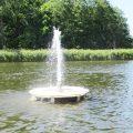 Aerator na jeziorze w Rogoźnie. Ładnie i pożytecznie