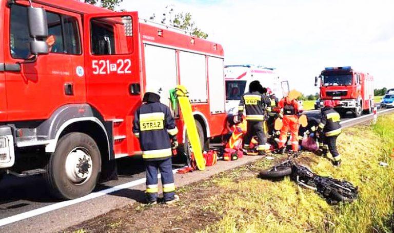 Policja poszukuje świadków śmierci motocyklisty w Ocieszynie