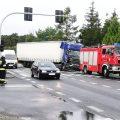 Kolizja ciężarówek w Rożnowie