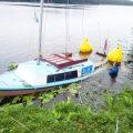 Wywrotka łodzi na Jeziorze Rogozińskim