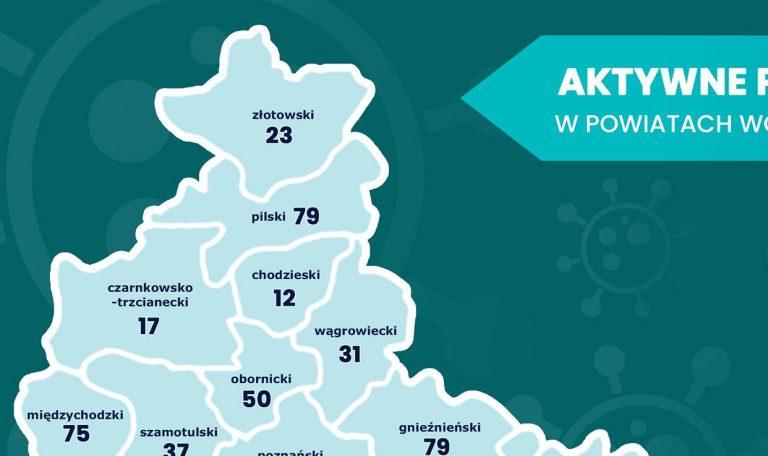 50 mieszkańców powiatu obornickiego aktywnie chorych w poniedziałek