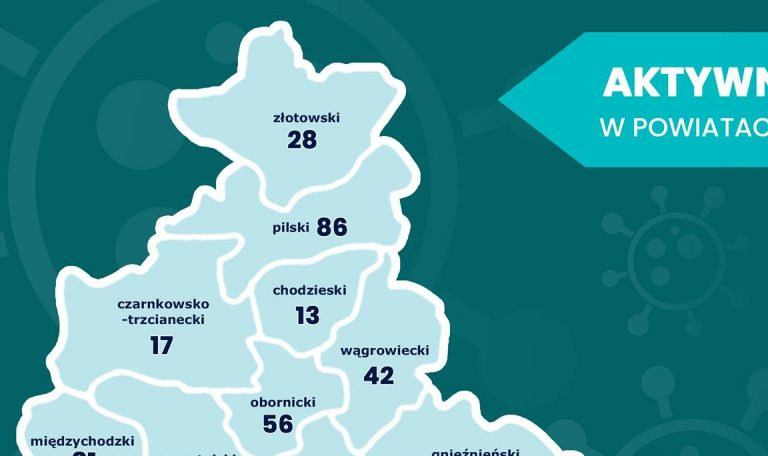 Chorych jest 56 mieszkańców powiatu