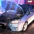 Zapłonął samochód
