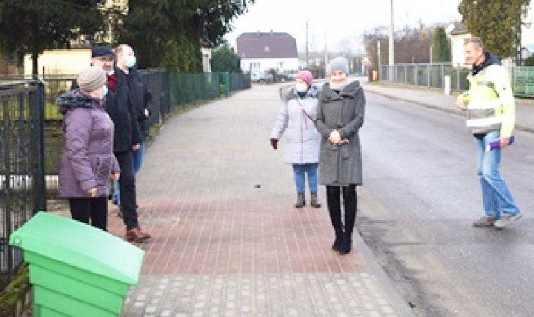 Koniec przebudowy chodnika przy Marcinkowskiego