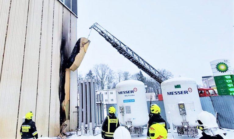 Pożar hali