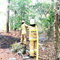 Pożar lasu w Słonawach
