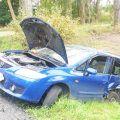Zderzenie dwóch samochodów w Jaraczu